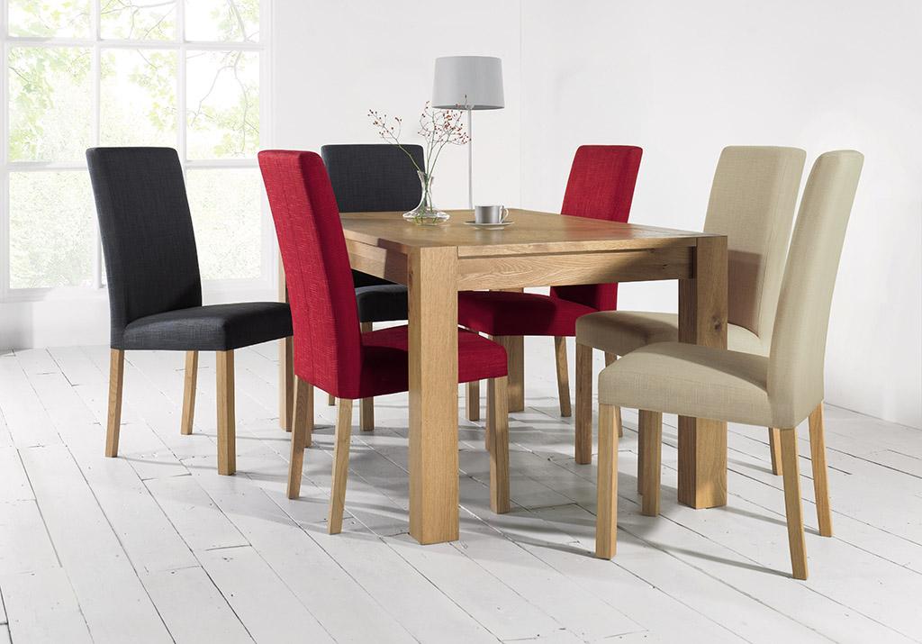 Juego de comedor moderno mesa rectangular en madera para seis ...