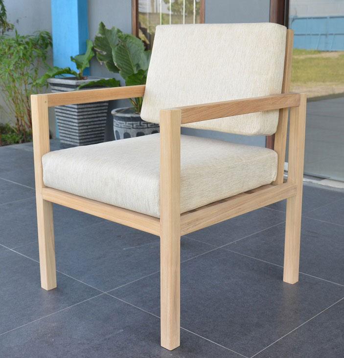 Silla sof para uso interior o exterior hecha en madera - Cojines sillas exterior ...